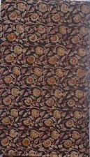 Cotton kalamkari block print fabric - 100 cms length by 43 inches black base