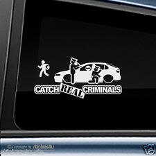 (1228) Fun Sticker Aufkleber Catch Real Criminals Seat Leon 1M Stickerbomb Cupra