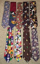 9 Disney Mickey Mouse & Looney Toones Mens Neck TIes Tie
