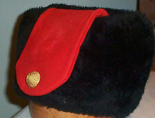 CANADIAN MILITARY ROYAL MILITARY COLLEGE WINTER WEDGE IMITATION FUR HAT