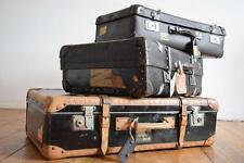 3 Koffer Konvolut Alt Antik Loft Vintage schwarz Loft Reisekoffer Überseekoffer