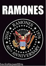 "Ramones Eagle 40th Anniversary 1976-2016 29.5""X40"" Cloth Fabric Poster Flag-New!"