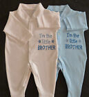 I'm The Little Brother Baby Grow Vest Babies Clothes Cute Funny Gift Boy Blue