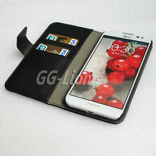 black Holster Stand Flip Card Wallet Leather Case for LG Optimus G Pro,E980