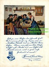 Coffee Franck Linz Austria 1927 Austrian ad advertising costume ladies chat cup