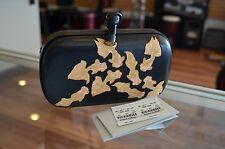 Bottega Veneta Gold Fish Black Leather Knot Clutch EXTREMELY RARE *AUTHENTIC*