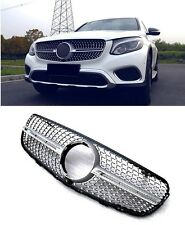 Für GLC X253 Amg Look Grill Kühlergrill Mercedes Stoßstange Gitter Blende #02