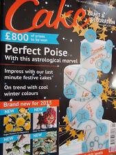 Cake Craft & Decoration Sugarcraft Recipes Magazine back issue No 194 Jan 2015