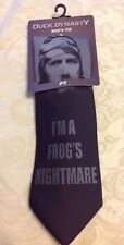 Duck Dynasty Jase Robertson I'm a Frog's Nightmare Tie-Mens Black/Gray