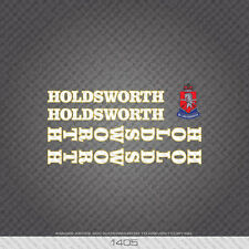 01405 Holdsworth Bicycle Stickers - Decals - Transfers - White/Gold
