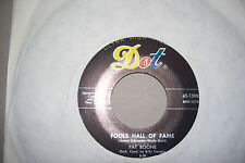 PAT BOONE,  FOOLS HALL OF FAME,  DOT RECORDS USA 1959  EX+
