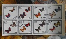 SVERIGE SWEDEN - 1977 BUTTERFLY - 1Sou. Sheet of 8-CTO