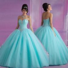2016 New Beaded Quinceanera Pageant Ball Gown Prom Party Wedding dresses Custom