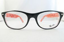 Ray-Ban RB 5184 2479 Black/Red Logo New Authentic Eyeglasses 54mm with Case