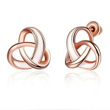 New Fashion Jewelry 18k Rose Gold Filled Womens Earrings Unique Ear Stud