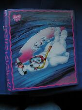 "Coca-Cola Snorkeling Bear w/Cubs 1 ½"" 3 ring binder curveback binder never used"