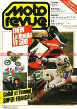MOTO REVUE 2650 HONDA VF 500 F ; HUSQVARNA WR 125 240 400 ; Tourist Trophy 1984
