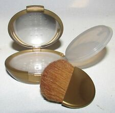 Bare Escentuals Gold Refillable Mirrored Mineral Makeup Compact w/Brush $25 New!