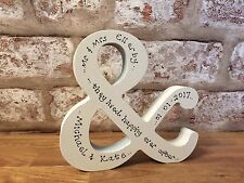 Personalised Wedding/engagement/anniversary gift Wooden &