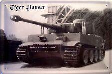 Kampfpanzer Panzer Tiger Blechschild Schild Blech Metall Tin Sign 20 x 30 cm