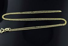1.30 grams 14k solid yellow gold cable link chain necklace 18  inches #4083