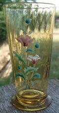 Gobelet verre soufflé Emaillé Art Nouveau
