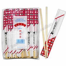 40 PAIRS CHINESE CHOPSTICKS WOODEN BAMBOO INDIVIDUALLY WRAPPED TRADITIONAL WOOD
