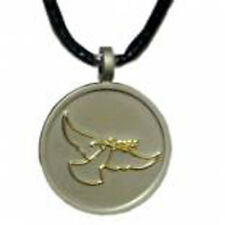 Peace  Dove Love Compassion Tolerance  silver Alloy pendent on Black Cord(OP118)