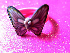 Plastic Butterfly Ring Size 8