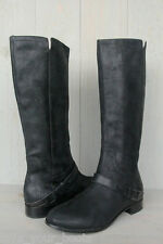 UGG CHANNING II TALL EQUESTRIAN STYLE BLACK BOOTS US 7/ EU 38 NEW