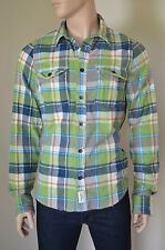NEW Abercrombie & Fitch Panther Gorge Flannel Shirt Green Plaid XL RRP £120