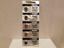5 x 394 Energizer FRESH 380 (SR936SW) Coin Cell Silver Oxide Batteries NEW