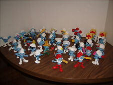 40 McDONALD'S HAPPY MEAL SMURF FIGURES Nice Shape Cake Toppers!