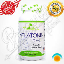 MELATONIN 5 mg 60 caps 2month Sleeping Insomnia Aid Stress Relief Immune Support