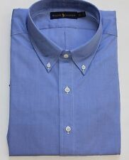 New $110 Polo Ralph Lauren Long Sleeve Blue Cotton Poplin Shirt / Big 4X