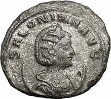 Salonina Valerian I daughter in law Ancient Roman Coin Venus Cult Rare i55380