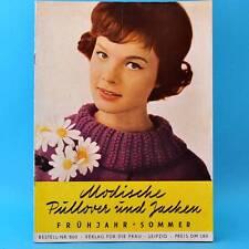 Modische Pullover und Jacken | DDR 1962 | Verlag für die Frau 800 | Stricken