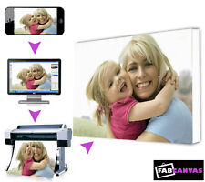 Personalised Canvas A2 24x16inch Photo/Picture My/Your Image To Canvas Frame