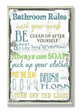 """The Stupell Home Decor Collection """"Bathroom Rules"""" Typography Bathroom Wall Plaq"""