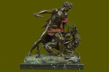 Ceryneian Hind & Hercules Greek Mythology Bronze Sculpture by Aldo Vitaleh Decor