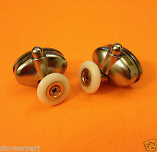 2 x Single Bottom Shower Door ROLLERS /Runners /Wheels 23mm in Diameter L077-1