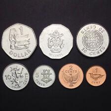 [S-1] Solomon Islands Set 7 Coins, 1+2+5+10+20+50 Cents + 1 Dollars, 2005, UNC