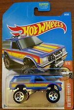 RARE OR5SP WHEEL VARIATION 2016-17 HOT WHEELS 1/64 SCALE BLUE CHEVY BLAZER 4X4