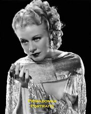 GINGER ROGERS 8X10 Lab Photo B&W Beautiful Glamour Shot Lovely Beauty Babe