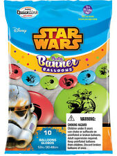 "10 Assorted 11"" Star War Birthday Party Quick Link Banner Balloons Decoration"