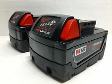 (Qty 2) Milwaukee M18 Red Lithium XC 5.0 AH Extended Capacity Battery 48-11-1850