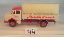 Brekina 1/87 4707 Mercedes Benz L322 LKW Pritsche Almdudler Limonade OVP #3171