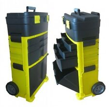 Strong Durable Garage Plastic Tool Box Mobile Storage Chest Cabinet on Wheels