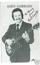 Bert Weedon  British Musician Guitarist  Hand Signed Photograph 6 x 4