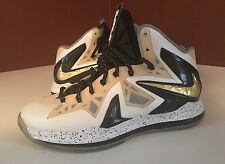 Lebron 10 Ps Elite Size 9.5 Gold 100% AUTHENTIC